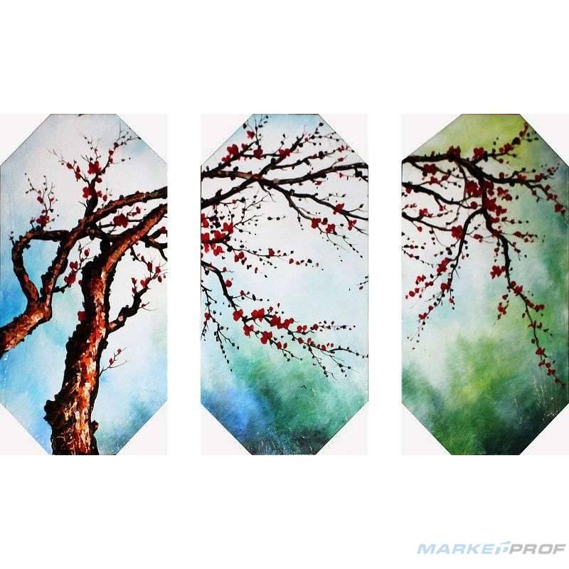 Модульная картина дерево с ветками ручная роспись купить в ...